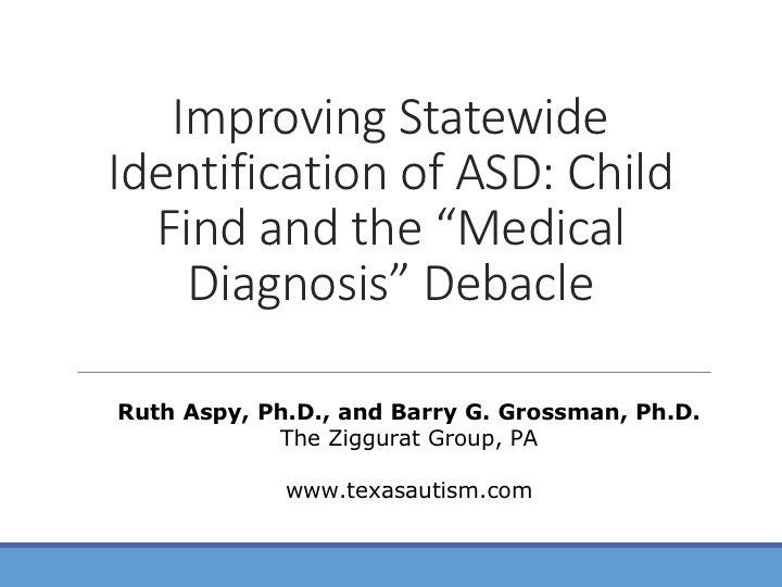 Improving Statewide Identification of Autism Spectrum Disorder