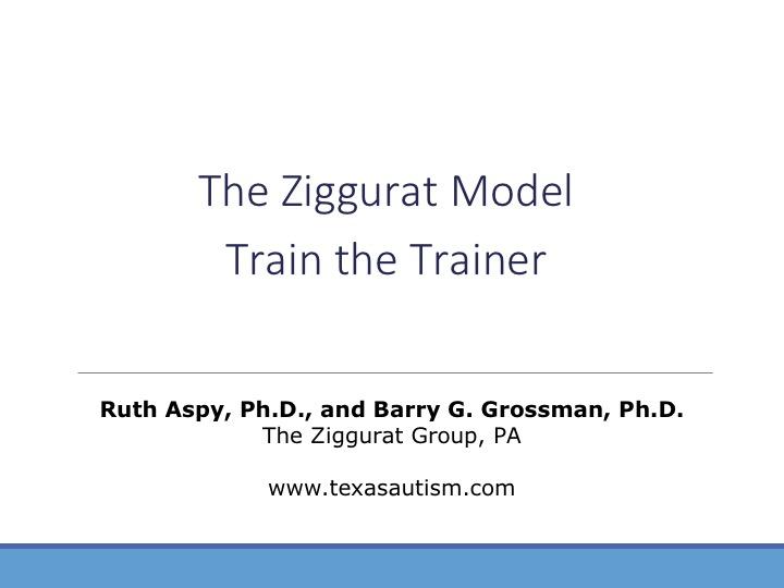 Ziggurat Model Train the Trainer
